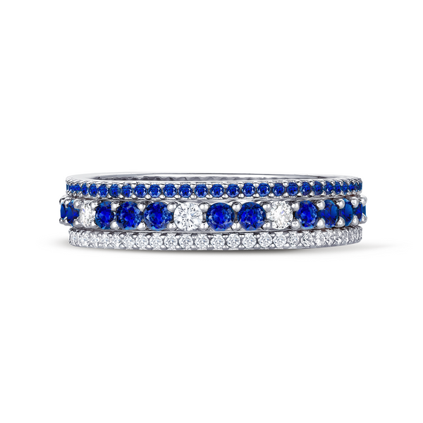 Sapphire and Clear Stunning Stacks Set