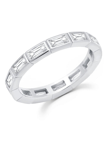Prism II Eternity Band finished in Pure Platinum