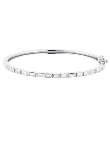 Prism II Bangle finished in Pure Platinum