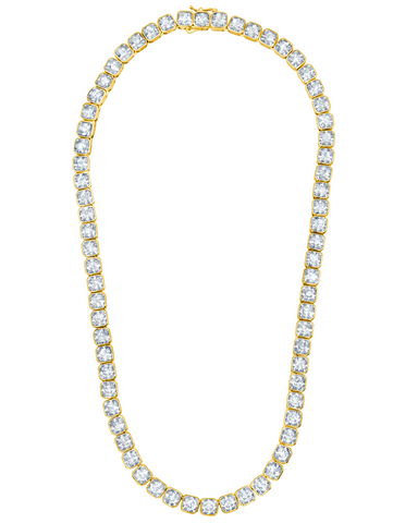 Opulence Tennis Necklace Finished in 18kt Yellow Gold