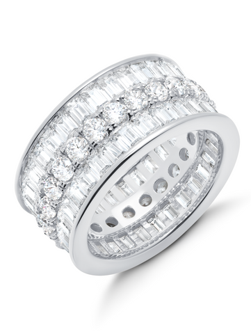 Parallel- Platinum Baguette Eternity Ring