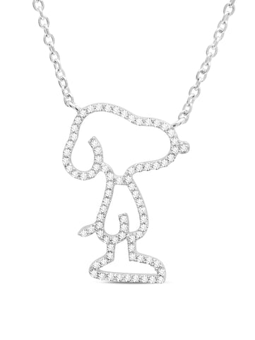 Snoopy Pave Silhouette Necklace