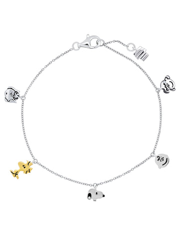 Snoopy & the Gang Charm Bracelet
