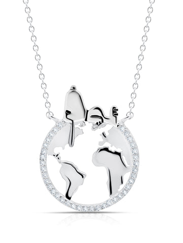 Snoopy on the World Necklace