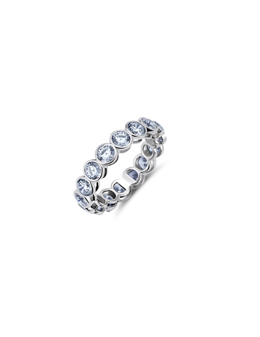 Lg Bezel Eternity Band Finished in Pure Platinum