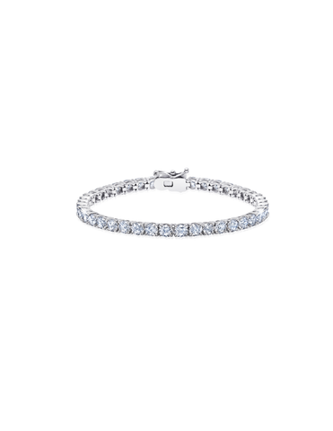 Mens Brilliant Cut Tennis Bracelet Finished in Pure Platinum