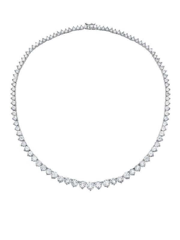 Classic Graduated cubic zirconia Tennis Necklace 16