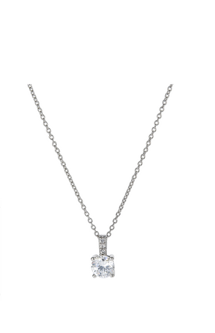 Accented Brilliant Pendant Finished in Pure Platinum