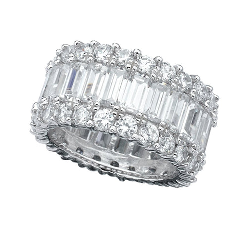 Baguette Eternity Band Cubic Zirconia Engagement Ring