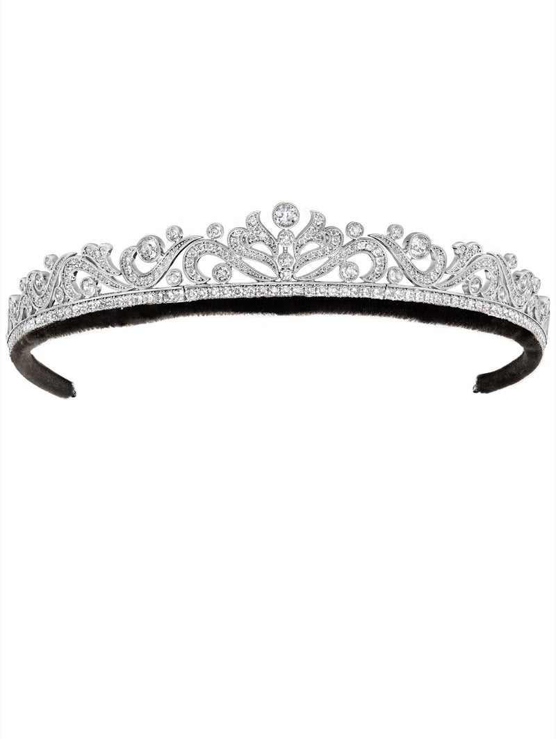 Andrew Prince by Crislu Scroll and Brilliant Cut Tiara