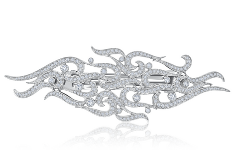Andrew Prince by Crislu Crystal Flame Hair Clip