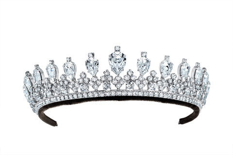 Andrew Prince x Crislu Pear and Round Cut Tiara