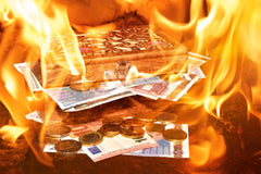 burning money causes air pollution