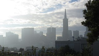 San Francisco air pollution levels high