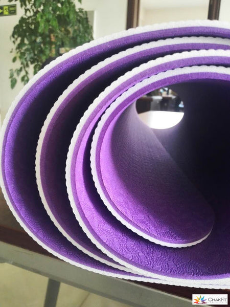 ChakFit™ (Violet) Yoga Mat w/Carry Strap - ChakFit Yoga Products