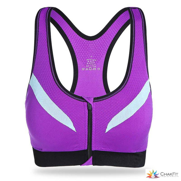 Chakfit Zip Front Sports Bra - ChakFit Yoga Products