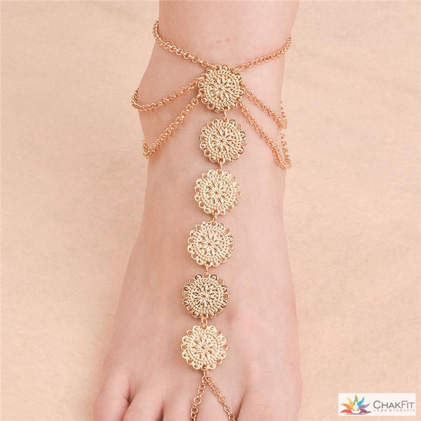 Ankle Barefoot Coin Sandals - ChakFit Yoga Products