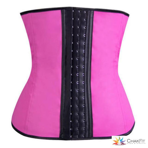 Waist Trainer Corset with Lumbar Back Supports plus Zip & Hook - ChakFit Yoga Products