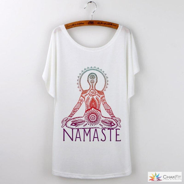 Chakfit  Namaste Art Print Summer Tops. - ChakFit Yoga Products