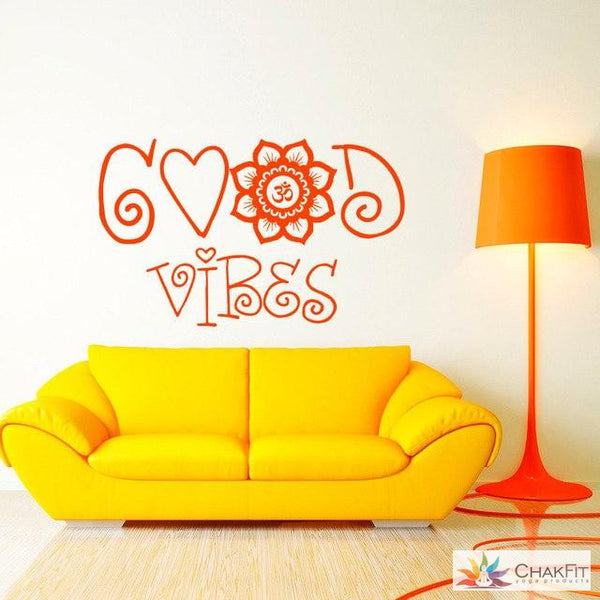 Chakfit Good Vibes Wall Sticker. - ChakFit Yoga Products