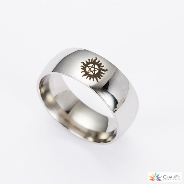 Chakfit 1PC Retail sun evil force supernatural  titanium steel ring - ChakFit Yoga Products