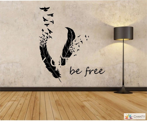 Chakfit Feathers Turning Into Birds Wall  Sticker - ChakFit Yoga Products