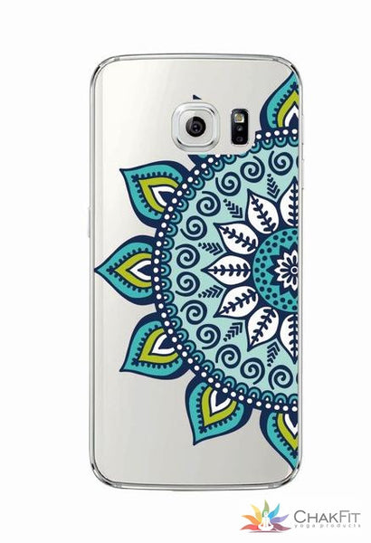Vintage Indian Floral Henna Phone Case  For Samsung Galaxy J5 A5 S6 S7 Edge S8 - ChakFit Yoga Products