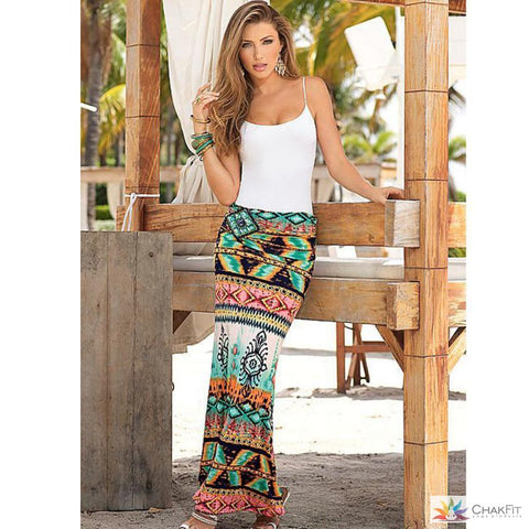 Print Long Skirt - ChakFit Yoga Products