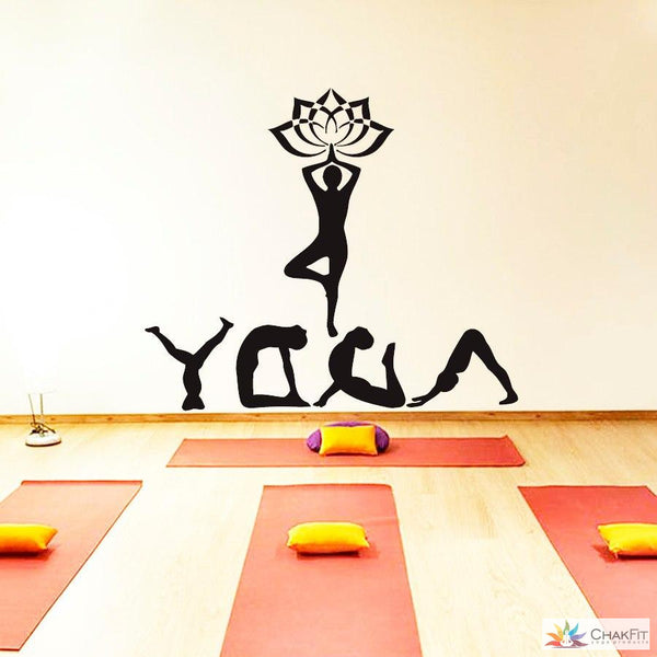 Chakfit Yoga Meditation Wall Sticker - ChakFit Yoga Products