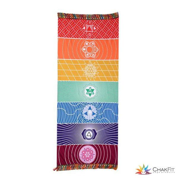 Chakfit Seven Chakra Rainbow Tapestry - ChakFit Yoga Products