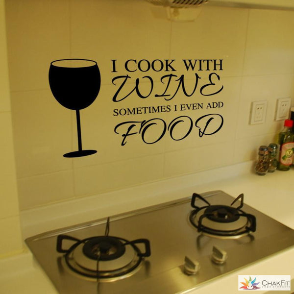 Chakfit Wine Wall Stickers - ChakFit Yoga Products