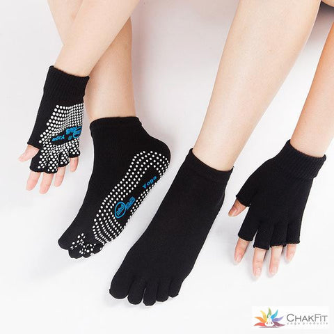 Chakfit Professional Good Grip Cotton Non-slip Socks&Gloves For Women.
