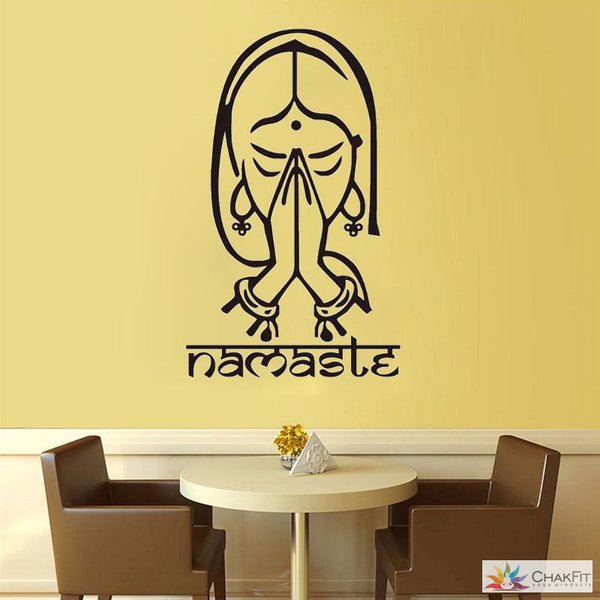 Namaste Wall Stickers - ChakFit Yoga Products