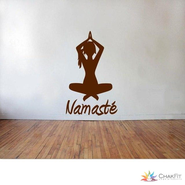 Chakfit Yoga Namaste Wall Stickers. - ChakFit Yoga Products