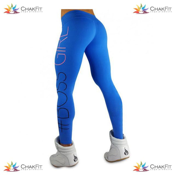 #BOSSGIRL  Leggings - ChakFit Yoga Products