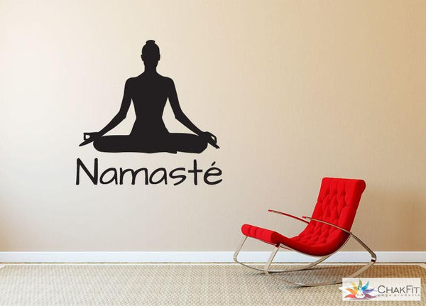 Chakfit Namaste Yoga Wall Stickers - ChakFit Yoga Products