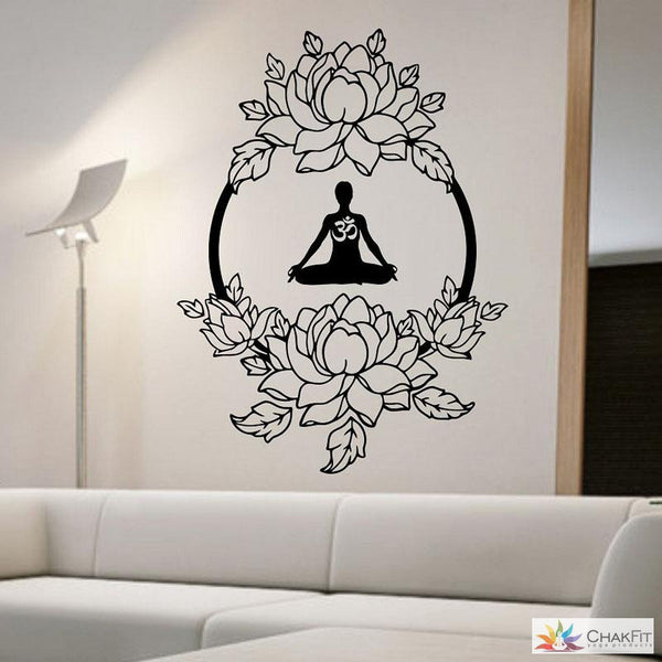 Meditation Buddha Wall Sticker - ChakFit Yoga Products