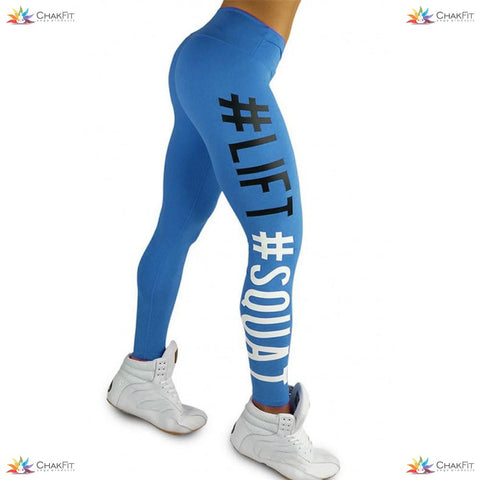 Hashtag Lift Squat Workout Leggings - ChakFit Yoga Products