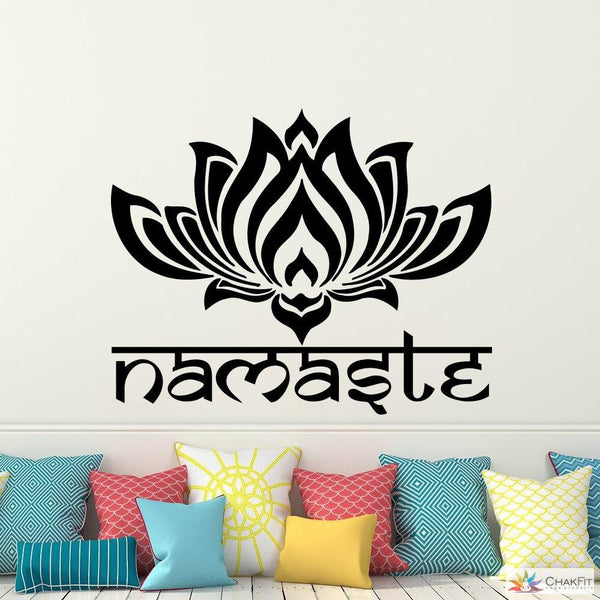 Chakfit Lotus Namaste Wall Sticker - ChakFit Yoga Products