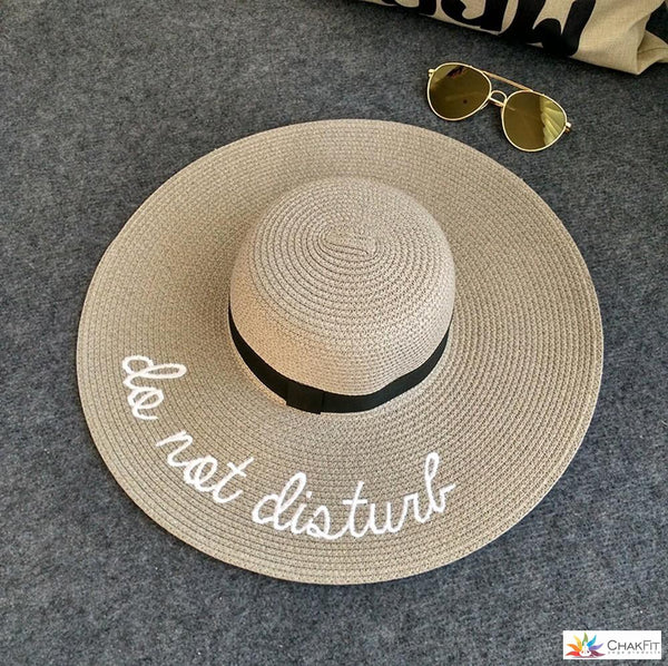 Do Not Disturb - Summer Beach Hat - ChakFit Yoga Products