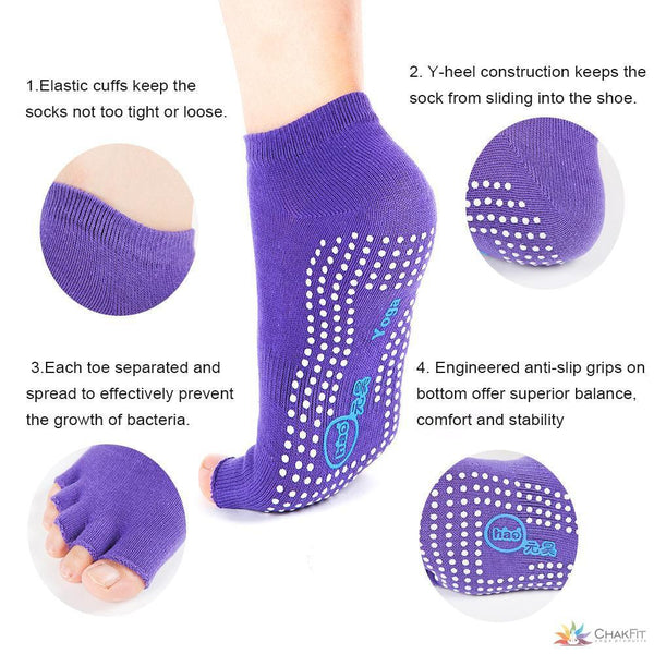 Chakfit Cotton Non-slip Yoga Toe Socks & Gloves Set. - ChakFit Yoga Products