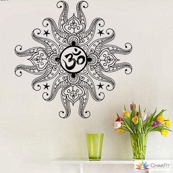 Mandala Ornament Wall Sticker - ChakFit Yoga Products