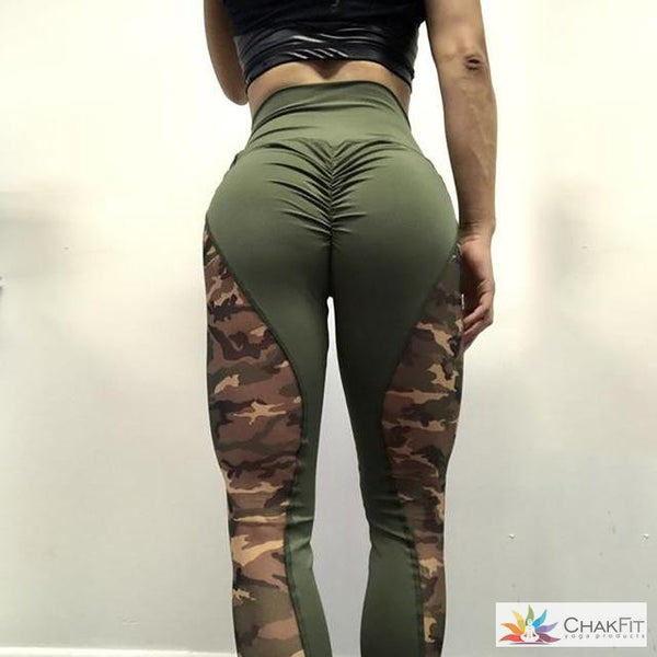 Camouflage High Waist Leggings - ChakFit Yoga Products