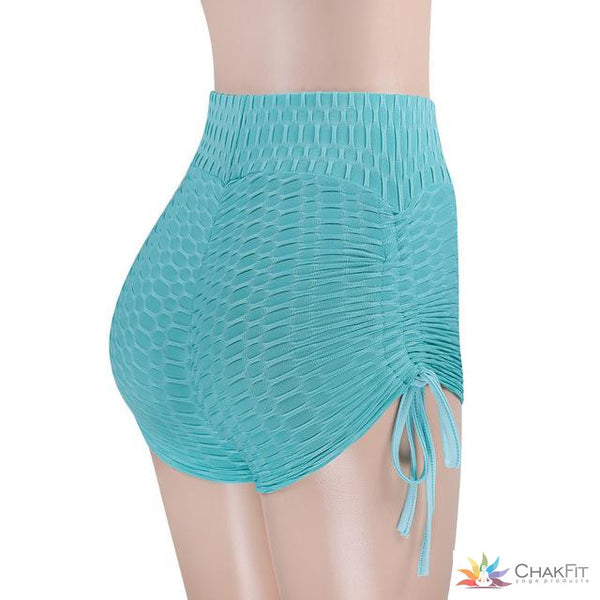 High-waist Scrunch Booty Shorts - ChakFit Yoga Products