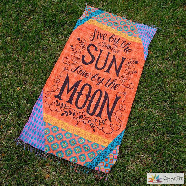 Chakfit Sun and Moon Beach Towel/Blanket - ChakFit Yoga Products