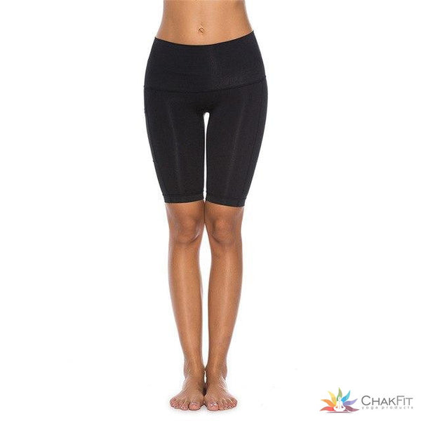 Chakfit Women's High Waist fitness and yoga shorts with a pocket. - ChakFit Yoga Products