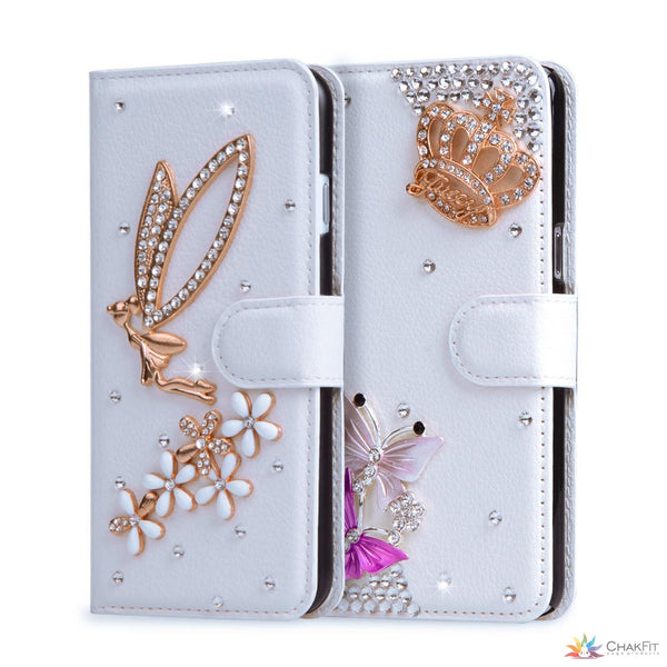 Wallet Leather Diamond Glitter case For Lenovo Vibe K5 K5 plus Lemon 3 A6020a40 - ChakFit Yoga Products