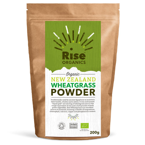Rise Organics New Zealand Wheatgrass Powder 250g