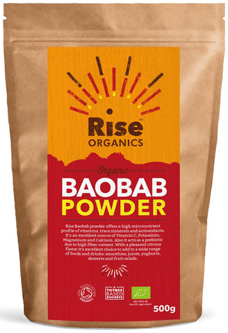 Rise Organic Raw Baobab Powder 500g