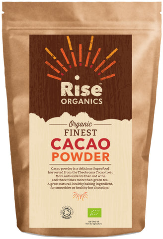 Rise Organic Cacao / Cocoa Powder 500g, Soil Association certified